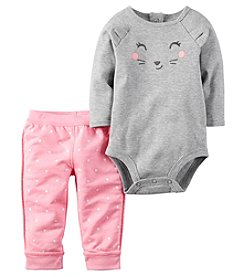 Carter's® Baby Girls' 2-Piece Bear Bodysuit And Pants Set