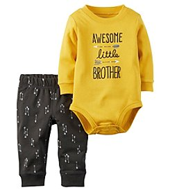 Carter's® Baby Boys 2-Piece Little Brother Bodysuit And Pants Set