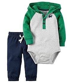 Carter's® Baby Boys 2-Piece Hooded Bodysuit And Joggers Set