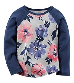 Carter's® Baby Girls' Long Sleeve Floral Raglan Tee