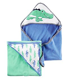 Carter's® Baby Boys 2-Pack Alligator Hooded Towels