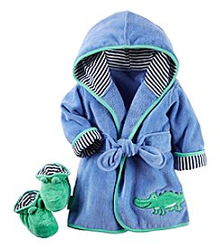 Carter's® Baby Boys Alligator Robe & Bootie Set