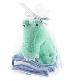 Carter's® Baby Boys Alligator Toy & Washcloth Set