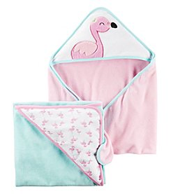 Carter's® Baby Girls' 2-Pack Flamingo Hooded Towels