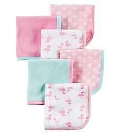 Carter's® Baby Girls' 6-Pack Flamingo Washcloths