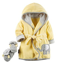 Carter's® Baby Elephant Robe & Bootie Set