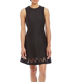 My Michelle® Laser Cut Hem Dress