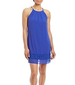 A. Byer Cut Out Hem Slip Trapeze Dress