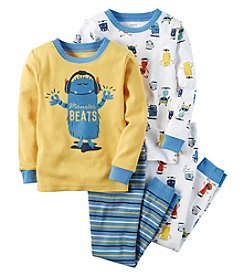 Carter's® Boys' 12M-12 4-Piece Cotton Monster Beats Pajama Set