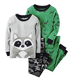 Carter's® Boys' 12M-8 4-Piece Raccoon Pajama Set