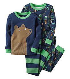 Carter's® Boys' 12M-8 4-Piece Bear Campsite Pajama Set