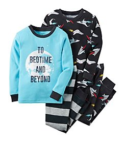 Carter's® Boys' 12M-12 4-Piece Cotton Bedtime And Beyond Pajama Set