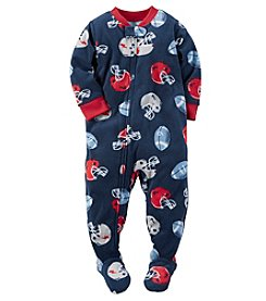 Carter's® Boys' 12M-12 One Piece Fleece Football Sleeper