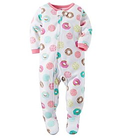 Carter's® Girls' One Piece Fleece Donuts Sleeper