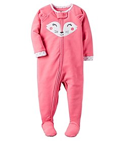 Carter's® Girls' 12M-4T One Piece Fleece Fox Sleeper