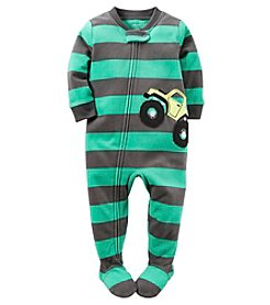 Carter's® Boys'  One Piece Fleece Monster Truck Sleeper