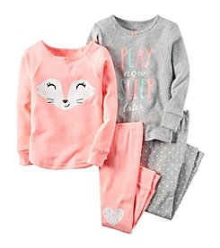 Carter's® Girls' 12M-12 4-Piece Winky Fox Pajama Set
