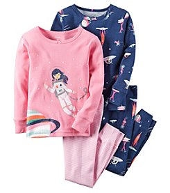 Carter's® Girls' 12M-12 4-Piece Astronaut Pajama Set