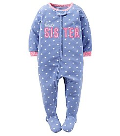 Carter's® Girls' 12M-14 One Piece Fleece Best Sister Sleeper