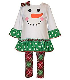 Bonnie Jean® Baby Girls' 2-Piece Snowman Tunic And Leggings Set