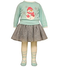 Bonnie Jean® Baby Girls' 3-piece Snowman Sweater Set
