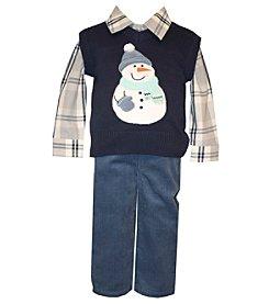 Bonnie Jean® Baby Boys' 3-piece Snowman Vest Set