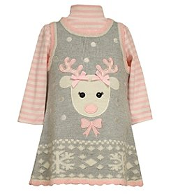 Bonnie Jean® Baby Girls' 2-Piece Reindeer Jumper Set