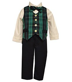 Bonnie Jean® Baby Boys' 4-piece Plaid Vest Set