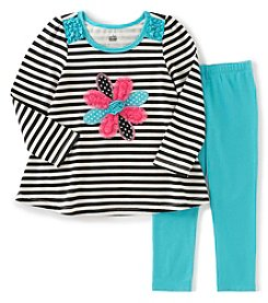 Kids Headquarters® Baby Girls' 2-Piece Flower Tunic And Leggings Set