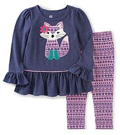 Kids Headquarters® Baby Girls' 2-Piece Fox Tunic And Leggings Set
