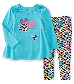 Kids Headquarters® Baby Girls' 2-Piece Heart Balloons Tunic And Leggings Set