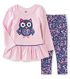 Kids Headquarters® Baby Girls' 2-Piece Owl Tunic And Leggings Set