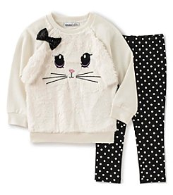 Kids Headquarters® Baby Girls' 2-Piece Bunny Top And Leggings Set