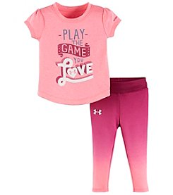 Under Armour® Baby Girls' 2-Piece Play The Game Tee And Leggings Set