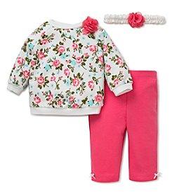 Little Me® Baby Girls' 3-Piece Floral Leggings Set
