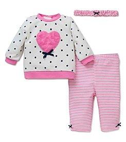 Little Me® Baby Girls' 3-Piece Heart Leggings Set