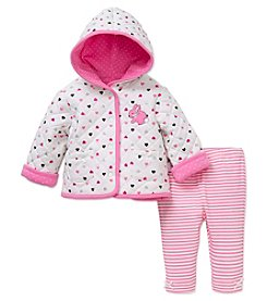 Little Me® Baby Girls' 2-Piece Bunny Jacket Set