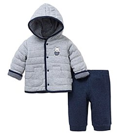 Little Me® Baby Boys' 2-Piece Bear Jacket Set
