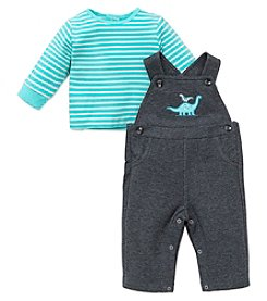 Little Me® Baby Boys 2-Piece Dino Overall Set