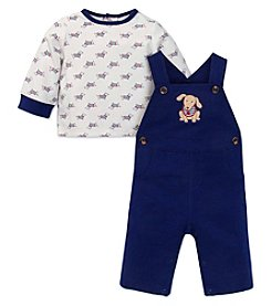 Little Me® Baby Boys 2-Piece Dachshund Overall Set