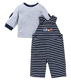 Little Me® Baby Boys 2-Piece Train Overall Set