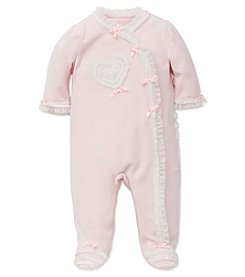 Little Me® Baby Girls' Ribbon Heart Footie
