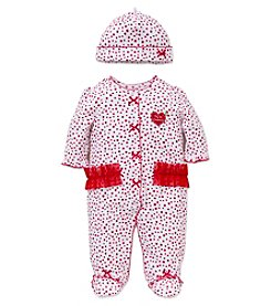 Little Me® Baby Girls' My First Christmas Dotty Footie with Hat