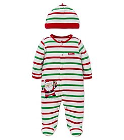 Little Me® Baby Boys' My First Christmas Santa Footie with Hat