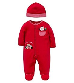 Little Me® Baby Boys My First Christmas Gifts Footie with Hat
