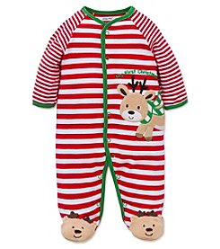 Little Me® Baby Boys My First Christmas Reindeer Footie