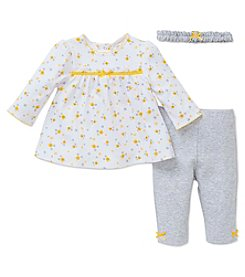 Little Me® Baby Girls' 3-Piece Daisy Leggings Set