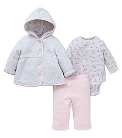 Little Me® Baby Girls' 3-Piece Rose Jacket Set