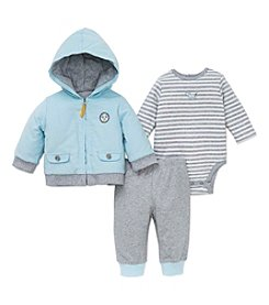 Little Me® Baby Boys' 3-Piece Puppy Talk Jacket Set