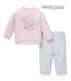 Little Me® Baby Girls' 3-Piece Bouquet Pants Set